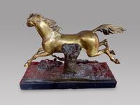 A Lovely Gilt Bronze Model Of a Horse (4 of 4)