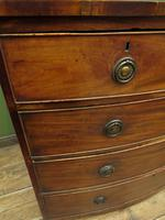 Antique 19th century Mahogany Bow Chest of Drawers, Country House Chest (4 of 18)