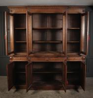 Large French Oak Breakfront Bookcase (17 of 19)