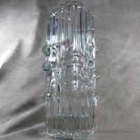 Large Czech, Rosice, Sklo Union,  Vladislav Urban, Clear Glass Vase, Pattern 617 (3 of 3)