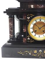 Amazing Mappin & Webb French Slate & Marble Mantel Clock 8 Day Striking Mantle Clock (9 of 10)