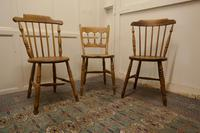Collection of 3 Stripped Beech & Elm Country Windsor Chairs (6 of 12)