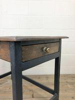 Antique Oak Side Table with Drawer (4 of 11)