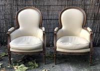 Pair of French Bergere Armchairs (4 of 10)