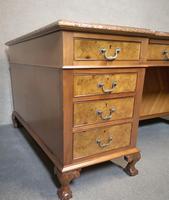 Antique Burr Walnut Partners Desk (6 of 12)