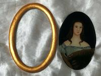 Fine Art Italian School 19th Century Miniature Portrait Countess Noble Lady Oil Painting (5 of 11)