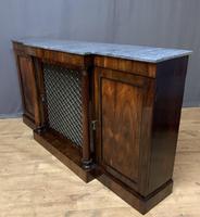Beautiful Regency Rosewood 3 Door Breakfront Cabinet (8 of 11)