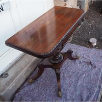 Classical Regency Rosewood Card Table (4 of 9)