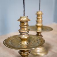 Pair of 17th Century Brass Candlesticks (6 of 10)