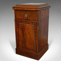 Tall Antique Side Cabinet, English, Mahogany, Bedside, Nightstand, Regency, 1820 (10 of 12)