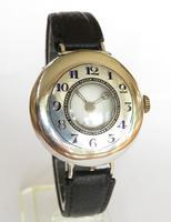 Antique silver half hunter wrist watch (6 of 7)