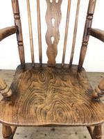 Antique Beech & Elm Windsor Armchair (9 of 12)