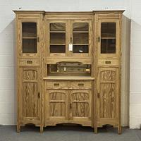 Very large antique dresser with glazed display cupboards (2 of 9)