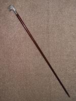 Vintage Hallmarked 925 Silver Walking Stick / Cane With Snarling Tiger Handle 91cm (14 of 21)