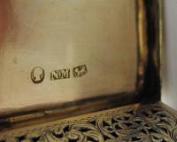 Superb Silver-gilt Vinaigrette Nathaniel Mills Birmingham 1844 (2 of 8)