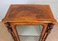 Antique Victorian Burr Walnut Display Cabinet (8 of 9)