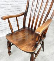 Large Grandfather Windsor Slatback Armchair (5 of 7)