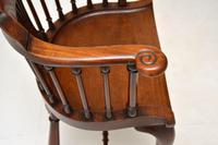 Antique Victorian Mahogany Captains  Desk Chair (6 of 11)