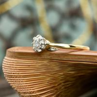 The Antique Old Brilliant Cut Diamond Solitaire Ring (3 of 4)