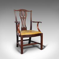 Antique, Set of 6, Dining Chairs, English, Mahogany, Leather, Seats, Victorian (5 of 12)