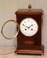 Mahogany Inlaid Mantel Clock (3 of 10)