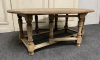 Large Bleached Oak Coffee Table (5 of 11)