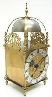 Superb Vintage English Lantern Clock - Pendulum 8-day Striking Mantel Clock c.1890 (7 of 12)