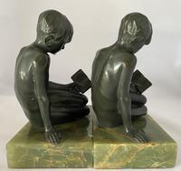Art Deco Bronze Bookends c.1930 (6 of 8)