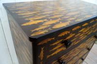 Victorian Chest of Drawers with Fish Decoupage (8 of 11)