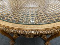 Round Walnut Glass Top Coffee Table (6 of 10)