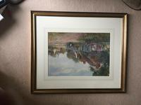J.W.Miliken Pair of Watercolours 'Evening Ince Blundell & Afternoon Near Chipping, Camden' (5 of 5)