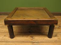 Vintage Colonial Style Low Coffee Table with Brass Details, Nautical Table (6 of 12)