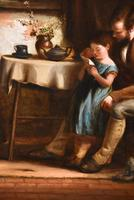 """Oil Painting Frederick Johnston """"The Reading Lesson"""" (4 of 5)"""