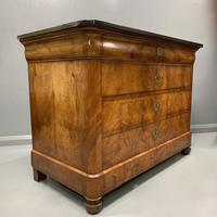 Figured Walnut and Marble Top Commode (11 of 13)