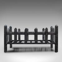 Antique Fire Basket, English, Cast Iron. Fireside, Grate, Late Victorian c.1900 (6 of 10)