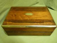 Quality Fully Brass Bound Rosewood Writing Box. Many Features. C1875 (12 of 16)