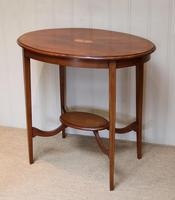 Oval Inlaid Occasional Mahogany Table (8 of 9)