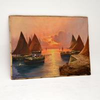 Antique Italian Oil Painting by Carlo Casati (2 of 11)