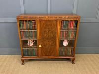 Burr Walnut Bookcase/Side Cabinet