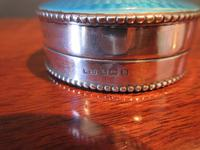 George V Silver & Turquoise Enamel Box (4 of 5)