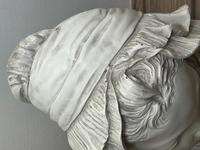 French Classical Young Lady Wearing Bonnet Wall Sculpture (4 of 20)