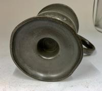 Antique Georgian Pint Pewter Tankard c.1820 (3 of 6)