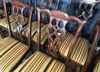 Set of Ten Georgian Style Mahogany Dining Chairs (11 of 13)