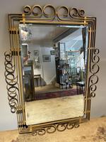 1960's Brass Rectangular Mirror