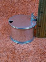 Antique Sterling Silver Hallmarked Mustard Pot & Blue Liner 1933, S Blanckensee & Son Ltd, Birmingham (6 of 10)
