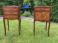 Pair of French Marquetry Bedside Tables in Kingwood (9 of 9)