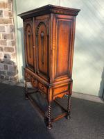 Antique Oak Barley Twist Cabinet on Stand (3 of 10)