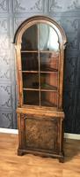 Burr Walnut Corner Cupboard
