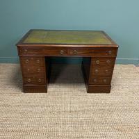 Large Victorian Mahogany Antique Partners Desk (8 of 10)