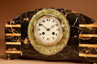 Art Deco Marble Clock Garniture French c.1940 (2 of 9)